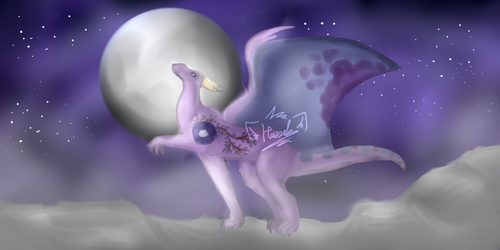 [COMM] In The Moonlight by Hazzelz