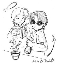 Good Omens chibis by Saehral