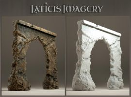Laticis Imagery FREE Object - Fractured Wall by Laticis