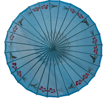 Chinese Umbrella blue by Lindalees