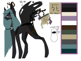 guardians ponies-Death spirit - Shi by thunderstorm210