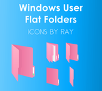 Windows User  Pink Flat Floders by Ray by Raiiy