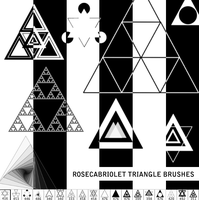 RoseCabriolet Triangle brushes by RoseCabriolet