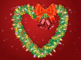 Heart Shaped Christmas Wreath by flashtuchka