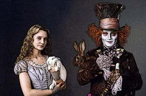Alice and the Mad Hatter by Nonsensicle
