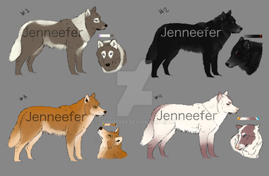 Wolf adoptables OPEN by Jenneefer