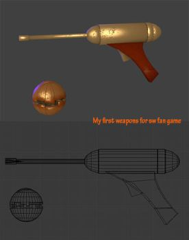 My first weapons for sw fan game by Kulibrach