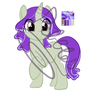 Purple Lily adoptable [CLOSED] by MagicPebbles