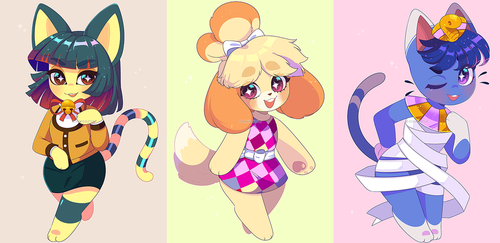 Animal Crossing: Outfit Swaps by QueenAshi