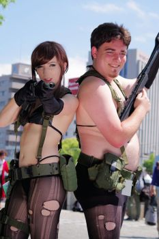 Palmer Luckey Cosplays as Metal Gear Solid 5's Qui by stainlessproduct