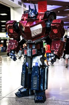 Optimus Prime at Adelaide Oz Comic-Con 2015 by Old-Trenchy