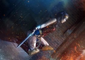 Wonder Woman - Into the Front lines! by TineMarieRiis