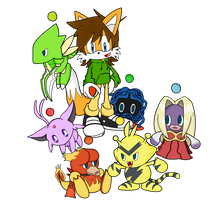 My CHAO Pokemon Party by Reallyfaster