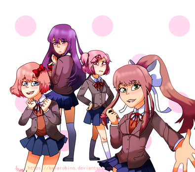 Doki Doki Literature Club! by KeiArubino