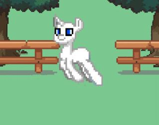 Leaping Ponytown pony, Pikapetey style by Torpy-Ponius