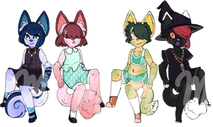 [closed] Smol and Cheap CatGirl Adopts [#6-9] by MonsterRadio