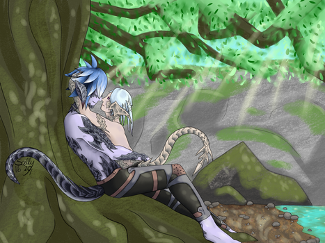 Under the Guardian Tree by Enyo-Neko