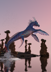 Seahorse by FreyrStrongart