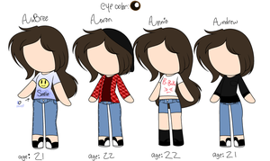AuBrees Ocs Redesigned [REUPLOAD] by LimeyCrystal