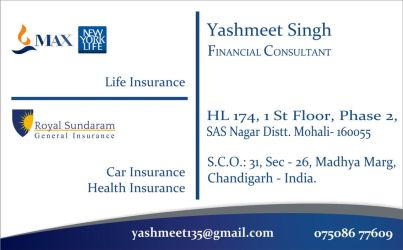 Max Newyorklife Visiting Card  by yashmeet135