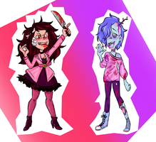Scary Girls Adopts (OPEN) by popinat