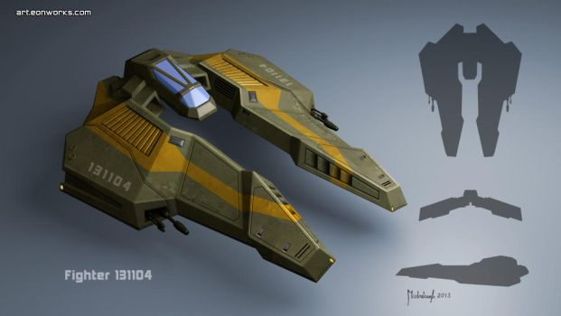 spaceship fighter concept by Eon-Works