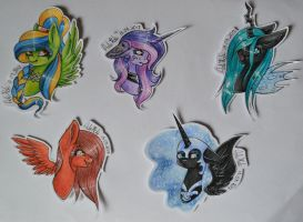 [COM]TraditionalArt YCH's - Headshots by AdaKola