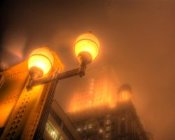 Chicago fog soup Jewelers Bldg by spudart