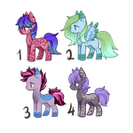 Pony Adoptables - [CLOSED] by Blithe-Adopts