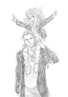 Jack and Lizzie BW (FAV ORIGINAL) by Foxy-Knight