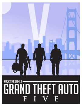 Grand Theft Auto 5 - Fan Poster by RyanRitterbusch