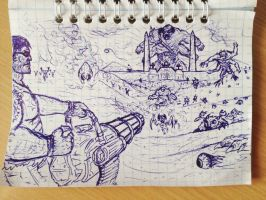 Serious Sam: The First Encounder - sketch by ImmortalTartal