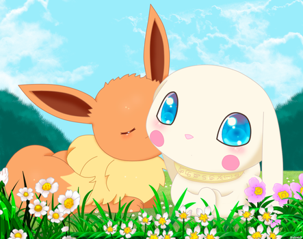 Eevee Salamon by jirachicute28