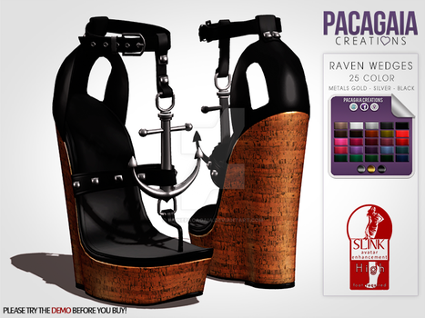 Raven Wedges by LainePacagaia