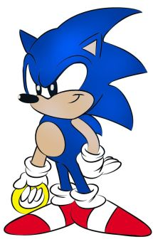 Sonic The Hedgehog Colored by LlawlietVemo