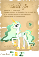 My OC - Emerald Sun by Lost-in-Equestria