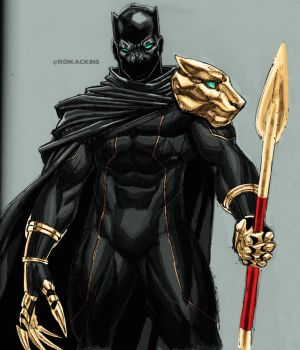 Black Panther T'Chala by RonAckins