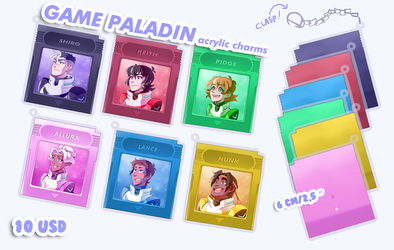GAME PALADIN acrylic charms by PRllNCE