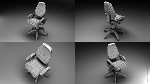Chair Wireframe by mpt1st