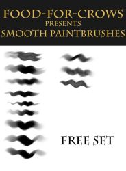Smooth Paintbrushes - Free Set by Food-For-Crows