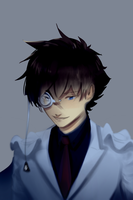 Kaito Kid looking down by Betnawr