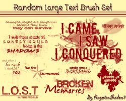 Random Large Text Brush Set by ForgottenShadow7
