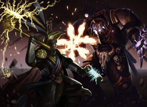 Karl Franz VS Chaos lord by PpOWERGENE
