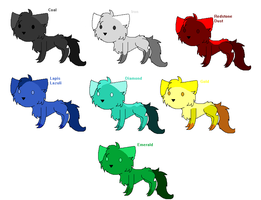 Minecraft Ore-based Chibi cat adopts by Helkie-three