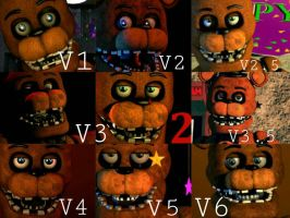 Withered Freddy Improvement Timeline by Delirious411