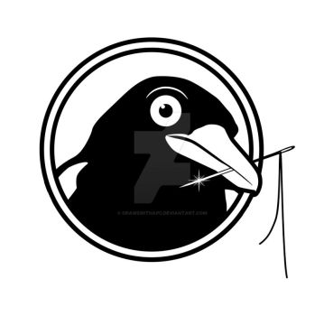 Logo for Etsy store - Quitethemagpie by DrawswithaPC