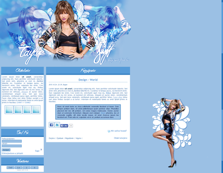 Taylor Swift CSS design by MiniiBogee