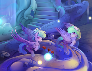 Cloudchaser and Flitter close up by viwrastupr