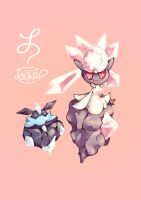 Diancie And Carbink by Le-av