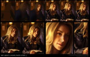 WIP Zoie Palmer 6h photo study :) by Pearlpencil